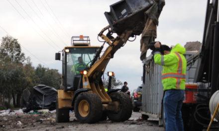 Merced cleans up homeless encampment