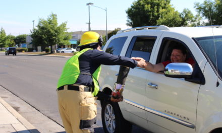 """Atwater Firefighters ask motorists to """"Fill the Boot"""""""